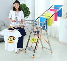TI 2-in-1 Foldable Step Ladder cum Clothes Drying Rack
