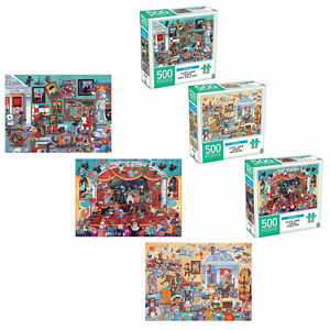 500 Piece Comical Puzzle Set - Assorted Kids Jigsaw Puzzles Activity Game Gift