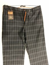 Dockers Original D1 Patterned khaki Slim fit Black/grey Checks Talla33 Brand New