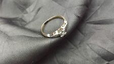 Beautiful Antique 1930s Anniversary Ring - 14k Yellow Gold and 0.1ct Diamond