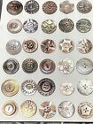 RARE GORGEOUS Lot of 30 Antique Abalone Mother-of-Pearl Carved Buttons