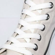White Flat Shoe Laces 120cm Strong Quality Weave Cotton Shoelaces Fast Shipping