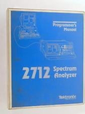 1991 Tektronix 2712 Spectrum Analyzer Programmer's Manual
