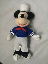 Vintage Disney Mickey Mouse Sailor Plush Soft Toy 42 cm