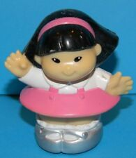 Fisher Price Little People 2000 Asian Sonya Lee Waving Pink Dress Silver Shoes