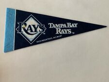 "MLB Tampa Bay Rays Mini Pennant Flag 4""x9"" NEW Baseball Decor Banner"