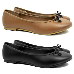 EX STORE Ladies Womens Flat Ballerina Ballet Pumps Shoes Size 4 5 6 7 8