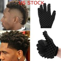 Barber Hair Brush Sponge Glove Locking Afro Curl Twist Dreads Coil Wave Braids