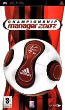 Championship Manager 2007 (PSP) - Free Postage - UK Seller