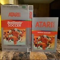 Realsports Soccer Box & Manual Only Atari 2600