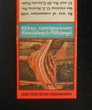 1930s Pennsylvania Turnpike Howard Johnson's Superhighway Bedford PA Matchbook