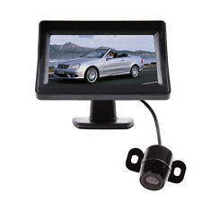 "4.3"" Tft Lcd Monitor +wired Car Backup Camera Rear View System Night Vision U"