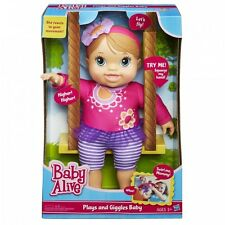Baby Alive Plays And Giggles Blonde Baby Doll Talking New
