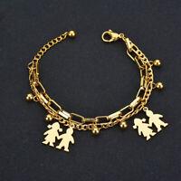 New Fashion Stainless Steel Boy Girl Family Bracelet Adjustable Bracelet Jewelry