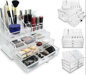 Akryl Kosmetikbox Schmuck Organizer Box Make-up Aufbewahrungsbox Neu/OVP