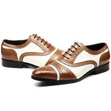 Handmade Men Spectator Oxford Dress, Formal Brogue Shoes, Men Brown Dress Shoes