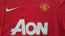 Nike neu Manchester United Trikot Homme Größe 128-140 rot Wunschflock möglich