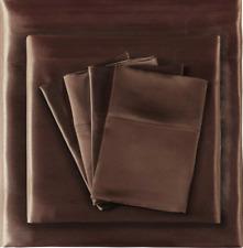 "NEW Madison Park 16"" Deep Pocket King Size Chocolate Sheet Set"