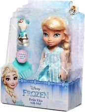 Frozen Petite Elsa Toddler Doll with Olaf and Comb Disney Princess Gift Set New