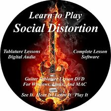 Social Distortion Guitar TABS Lesson CD 66 Songs + Backing Track + BONUS!