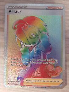 Pokemon Card - Allister Rainbow Rare Vivid Voltage