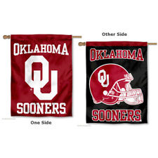 Oklahoma Sooners Two Sided House Flag