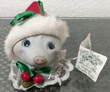 Porcelain Doll Head Possum Merry Meadows Carolyn Ann Leary 1983 Christmas