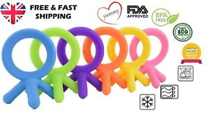 Yummy Baby Teething Teether Silicone Fingers Toy - 6 Colours -1/pack