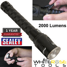 Sealey Aluminium Torch 20W CREE LED Light Adjustable Focus Rechargeable 2000lm