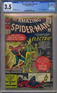 AMAZING SPIDER-MAN #9 CGC 3.5 1ST ELECTRO