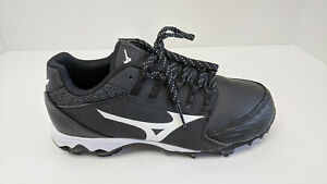 Mizuno Finch Elite 4 Softball Cleats, Black, Women's 8 M