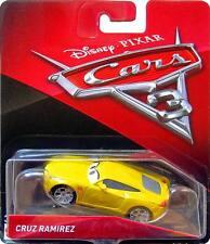 Disney Pixar Cars 3 Cruz Ramirez Plain Yellow Mattel Diecast 1:55 Scale New 2017