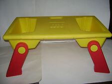 LEGO 1994 VINTAGE Lap Tray Table Building & Storage Bins w/ Fold up Legs RARE