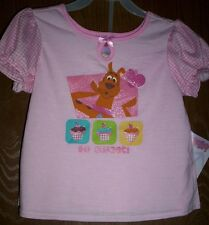 SCOOBY Doo Pink Pajamas Girl's 5T NeW 2 piece Glittery Pjs Shirt Shorts Set NWT