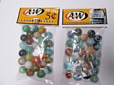 2 BAGS OF A&W ROOTBEER SODA 5 CENTS PROMO MARBLES