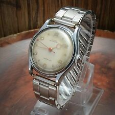 Vintage Grant Automatic Men's Watch Wristwatch Bidynator 17 Jewel Movement 34mm