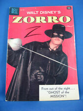 Four Color 920 Walt Disney Presents ZORRO VG VG+ Photo Cover Toth 1958