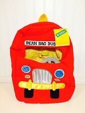 Bean Bag School Bus Backpack Plush Storage Hanna Barbera WB '98 New With Tags