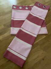 Pink Strap Curtains 66x72
