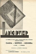 W7759 Lancover - Lanificio Rossi - Pubblicità del 1932 - Old advertising