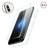 3in1 Adhesive Glass Set iPhone X, XS, XS MAX, XR Screen, Back & Camera Protector