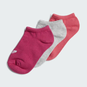 adidas Originals Kids Liner Socks 3 Pairs Pink Grey Purple RRP £12 ED5904