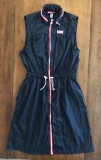 Womens HUNTER FOR TARGET SLEEVELESS ZIP FRONT DRESS Black HOOD Packable MEDIUM