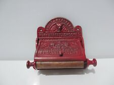 Cast Iron Loo Roll Holder Toilet WC Antique STYLE REPRODUCTION Ornate Wood