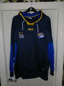 LEEDS RHINOS RUGBY LEAGUE ISC HOODIE HOODED TRAINING TOP - 5XL ADULT - L14