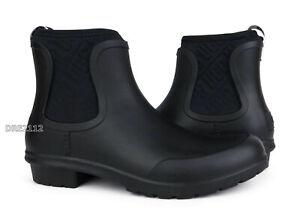 UGG Chevonne Black Rain Boots (All Sizes) NEW