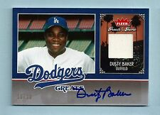 DUSTY BAKER 2006 FLEER GREATS OF THE GAME DODGERS GREATS JERSEY AUTOGRAPH /30