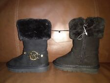 Michael Kors Boots Toddler Girl Size 5 Black Faux Seude