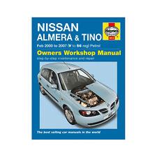 Nissan Almera Tino 1.5 1.8 Petrol 2000-07 (V to 56 Reg) Haynes Manual