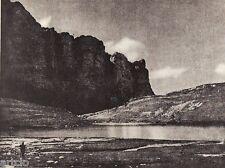 "Héliogravure - 1926 - "" Solitude alpestre ""  par Henri Schneeberger"